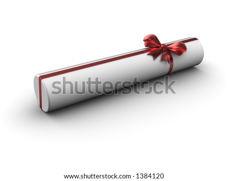 Cylinder gift with satin bow