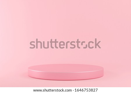 Cylinder podiums on pink background. Abstract minimal scene with geometrical. Scene to show cosmetic products presentation. Mock up design empty space. Showcase, shopfront, display case,3d render