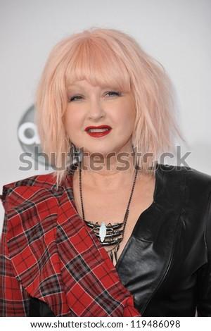 Cyndi Lauper at the 40th Anniversary American Music Awards at the Nokia Theatre LA Live. November 18, 2012  Los Angeles, CA Picture: Paul Smith