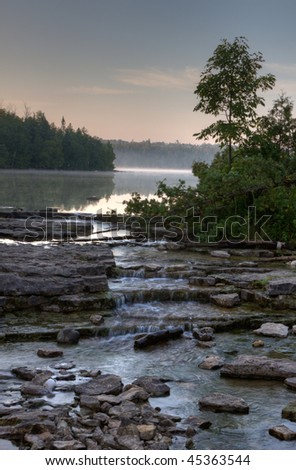 Cypress lake at dawn in Bruce Peninsula National park, Ontario, Canada.