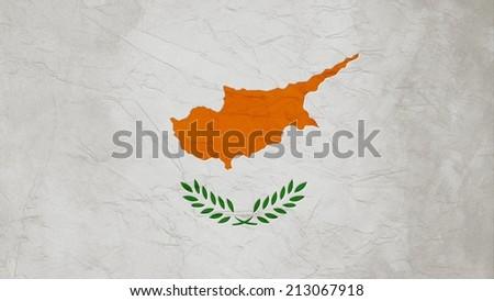 Cyprus Flag Crepe Paper texture