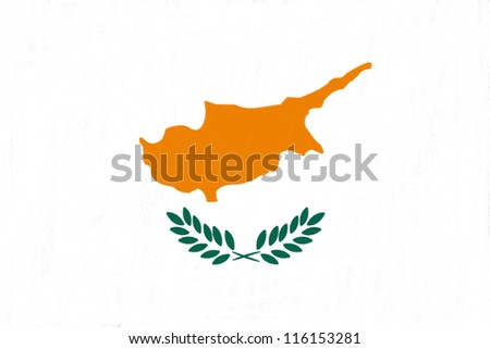 Cyprus flag drawing by pastel on charcoal paper