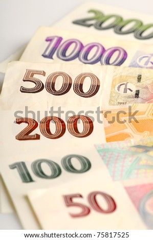 Czech bank notes