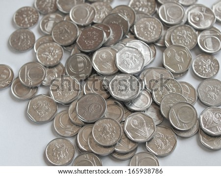 Czech currency (CZK) coins