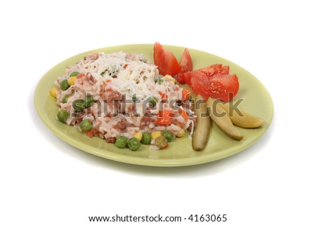 czech food with rice and meat