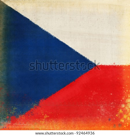 Czech Republic flag ,grunge and retro flag series