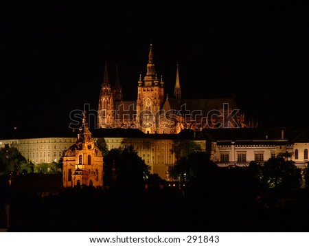 Czech Republic, Prague - Castle by night #291843