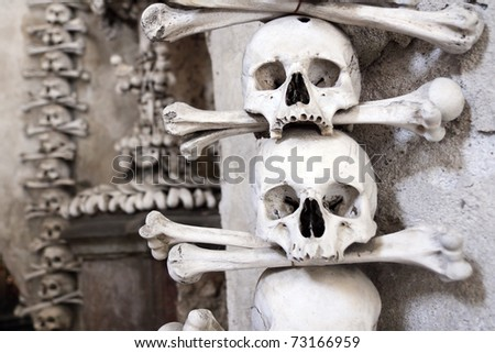 Czech Republic -  UNESCO city Kutna hora - church Sedlec - charnel-house