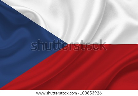 Czech Republic waving flag
