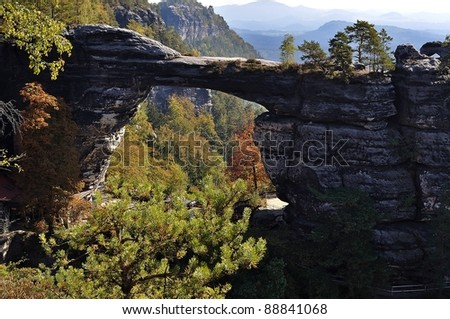 Czech Switzerland. Pravcicka brana - stock photo