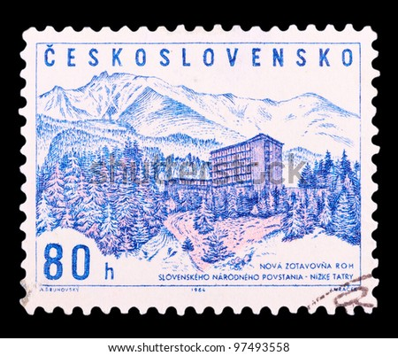 CZECHOSLOVAKIA - CIRCA 1964: a stamp printed by CZECHOSLOVAKIA shows Low Tatras, series, circa 1964