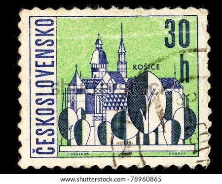 CZECHOSLOVAKIA - CIRCA 1965: A Stamp printed in Czechoslovakia shows image of Kosice, circa 1965
