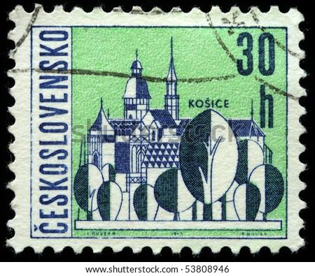 CZECHOSLOVAKIA - CIRCA 1965: A Stamp printed in Czechoslovakia shows wiew of Kosice, circa 1965