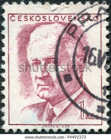 CZECHOSLOVAKIA - CIRCA 1969: A stamp printed in the Czechoslovakia, shows President Ludvik Svoboda, circa 1969