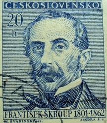 CZECHOSLOVAKIA - 20h CIRCA 1801-1862 : post stamp printed in Czech (Ceskoslovensko)