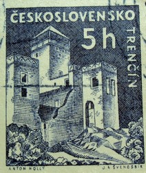 CZECHOSLOVAKIA - 5h : post stamp printed in Czech (Ceskoslovensko)