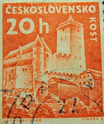 CZECHOSLOVAKIA - 20h: post stamp printed in Czech (Ceskoslovensko)