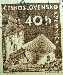 CZECHOSLOVAKIA - 40h : post stamp printed in Czech (Ceskoslovensko)