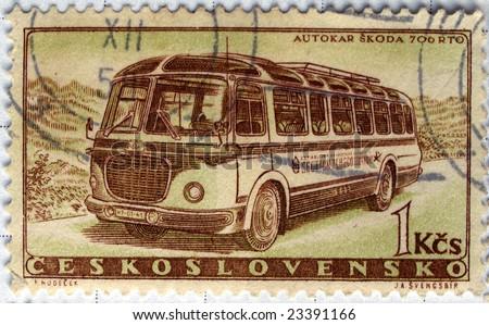 Czechoslovakia mail postage stamp