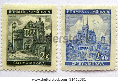 Czechoslovakia mail postage stamps dating back to the 1940s