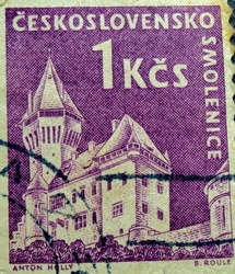 CZECHOSLOVAKIA : post stamp printed in Czech (Ceskoslovensko)