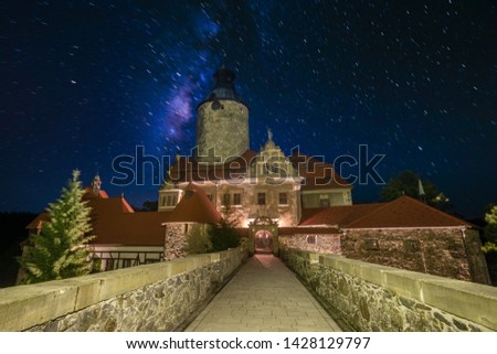 Czocha Castle, the favorite castle of the admirers of the novel J.K. Rowling-Harry Potter.Photo by night Stock fotó ©