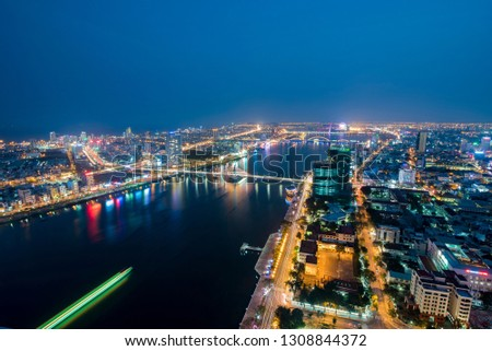 Da Nang City, Vietnam - March 7 2016 : The first time I go to Da Nang City and I take some photo in this beautiful city  #1308844372