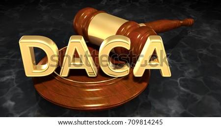 DACA Deferred Action For Childhood Arrivals Legal Concept 3D Illustration  Foto d'archivio ©