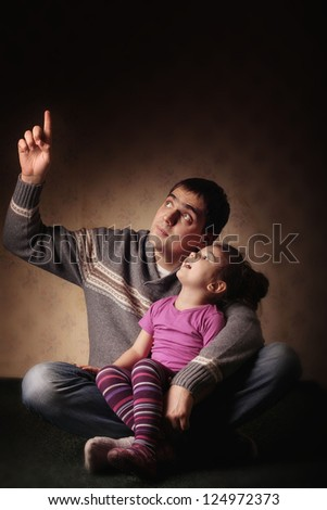 dad with a young daughter