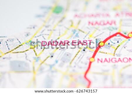 Mumbai Subway Map.Dadar East Station Mumbai Metro Map Ez Canvas