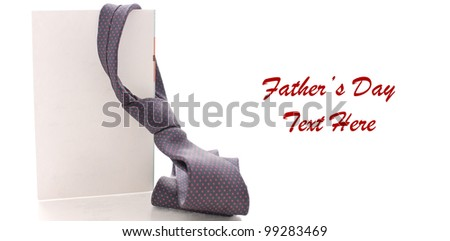 Daddy's Neck Tie on Blank Greeting Card with Space for Text on White
