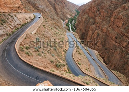 Dades Gorge is a gorge of Dades River in Atlas Mountains in Morocco #1067684855
