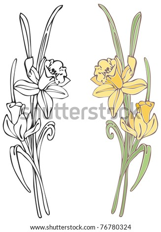 Daffodils - Raster Version