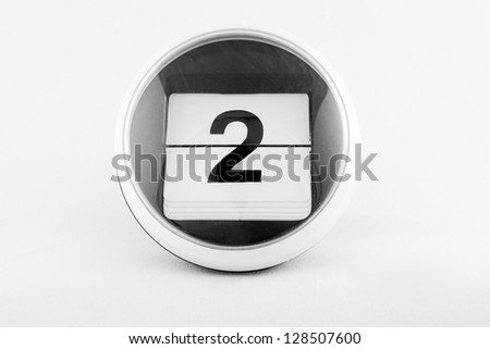 Daily calendar date change on a white background. day 2 #128507600