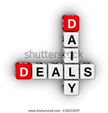 daily deals crossword puzzle symbol