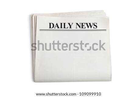 Daily News, Blank Newspaper with white background ストックフォト ©