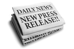 Daily news newspaper headline reading new press release concept for breaking news