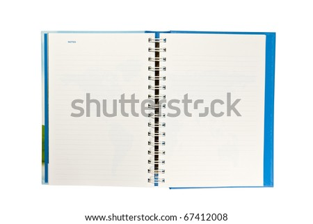 Daily on white background