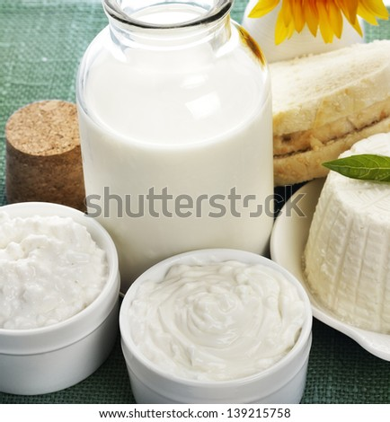 Dairy Products,Close Up Shot