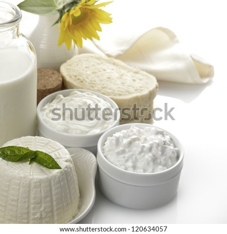 Dairy Products - Milk,Cheese,Sour Cream And Bread