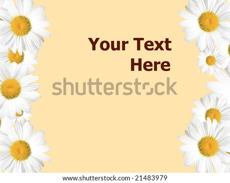 Daisy background, colorful seasonal (summer or spring) image versatile for a variety of designs