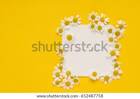 daisy flowers on the paper card - Shutterstock ID 652487758