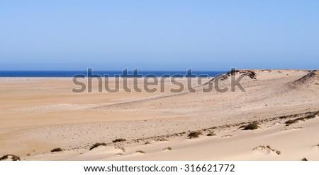 Dakhla Desert landscape, Western Sahara, Morocco