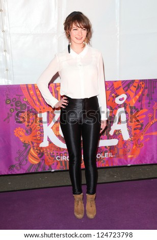 Dakota Blue Richards arriving for the press night of Cirque Du Soleil's Kooza, at The Royal Albert Hall, London. 08/01/2013.  Picture by: Alexandra Glen