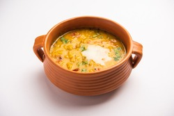 Dal fry with Desi ghee or clarified butter. Most popular Healthy main cource recipe in Indian subcontinent