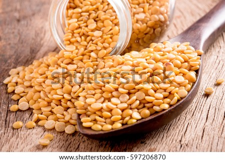 Dal in wooden background
