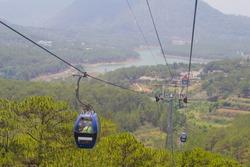 Dalat Cable Car at Robin Hill, Truc Lam (Dalat, Vietnam)