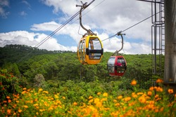 Dalat Cable Car at Robin Hill,Vietnam