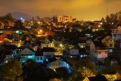 Dalat city at night, Vietnam