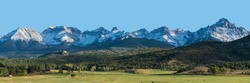 Dallas Divide mountain range in San Juan mountains of Southwest Colorado